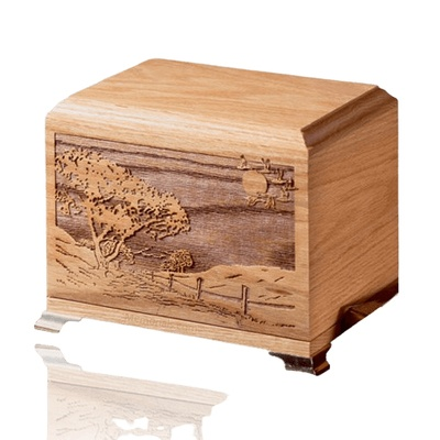 Home Bound Oak Wood Cremation Urn