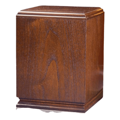 Square Wood Cremation Urn