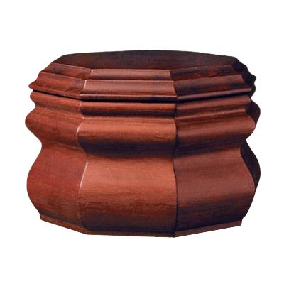 Octagon Wood Cremation Urn