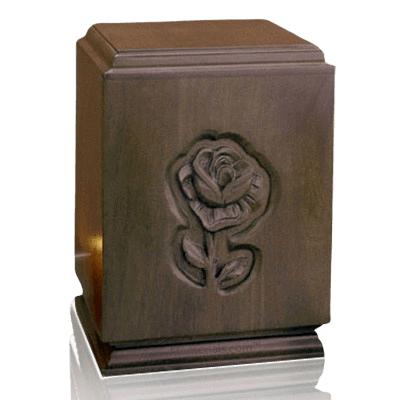 Classic Rose Wood Cremation Urn
