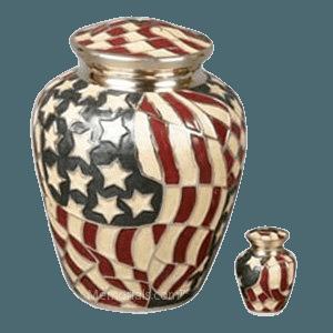 Star Spangled Cremation Urns