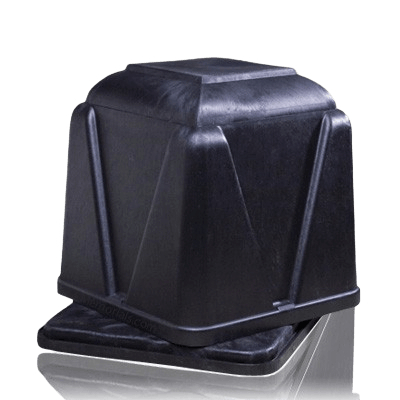 Vantage Black Cremation Burial Vault