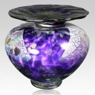 Milano Amethyst Glass Cremation Urn