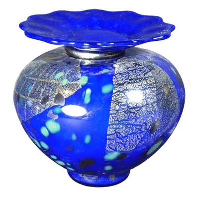 Milano Bluetonia Glass Cremation Urn