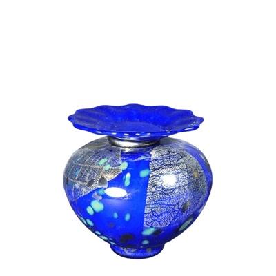 Milano Bluetonia Glass Keepsake Urn