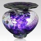 Venetia Purple Glass Pet Urn
