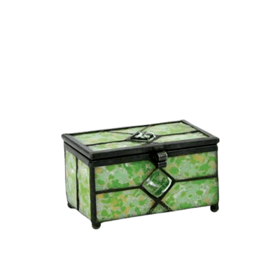 Verde Cathedral Glass Small Memory Chest