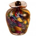 Vibrant Glass Keepsake Urn
