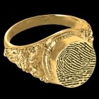 Victorian 14k Gold Cremation Print Ring
