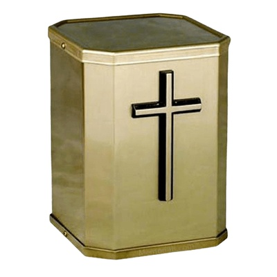 Victorious Cross Bronze Urn