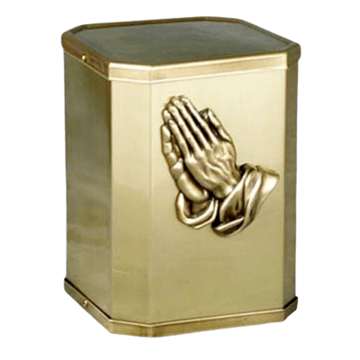 Victorious Prayer Bronze Urn