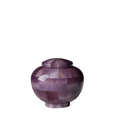 Violet Keepsake Wood Urn