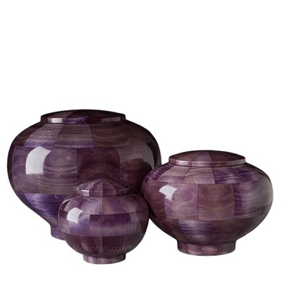 Violet Wood Cremation Urns
