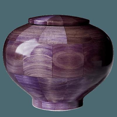 Violet Wood Urn