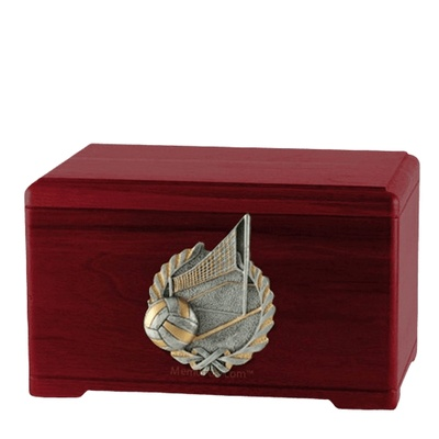 Volleyball Fan Rosewood Cremation Urn