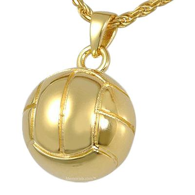 Volleyball Cremation Pendant IV