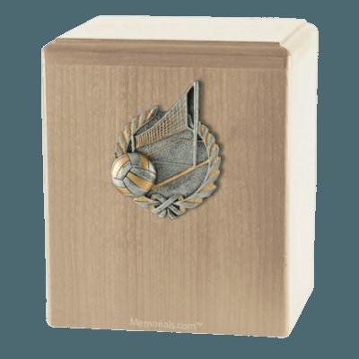 Volleyball Maple Cremation Urn