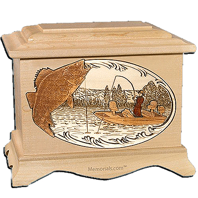 Walleye Fishing Cremation Urns for Two