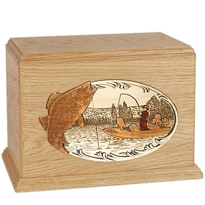 Walleye Fishing Maple Companion Urn