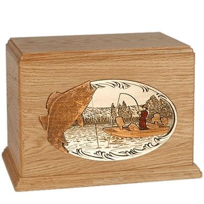 Walleye Fishing Oak Companion Urn