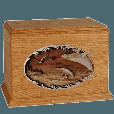 Whales Mahogany Companion Urn