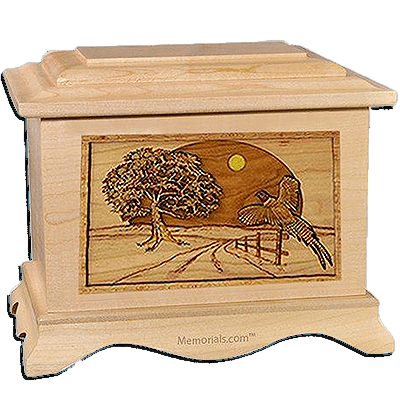 Winding Road Maple Cremation Urn For Two