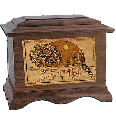 Winding Road Walnut Cremation Urn For Two