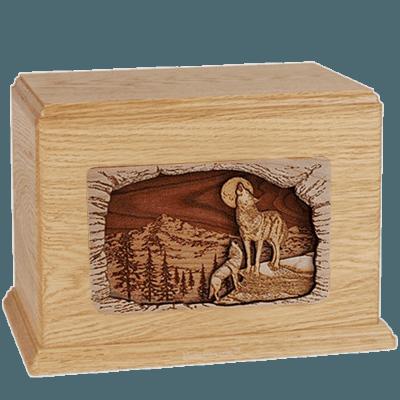 Wolves Maple Companion Urn