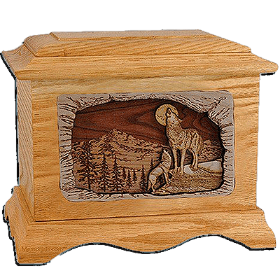 Wolves Cremation Urns For Two