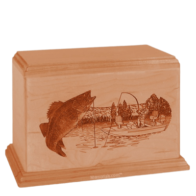 Walleye Companion Cherry Wood Urn