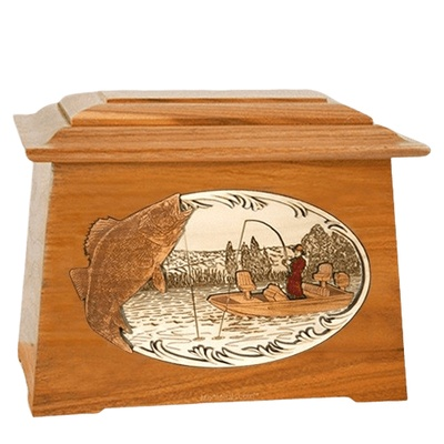 Walleye Fishing Mahogany Aristocrat Cremation Urn