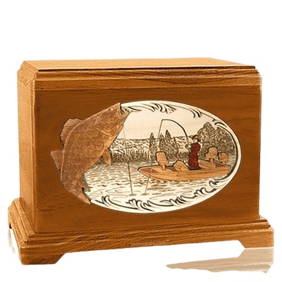 Walleye Fishing Mahogany Hampton Cremation Urn