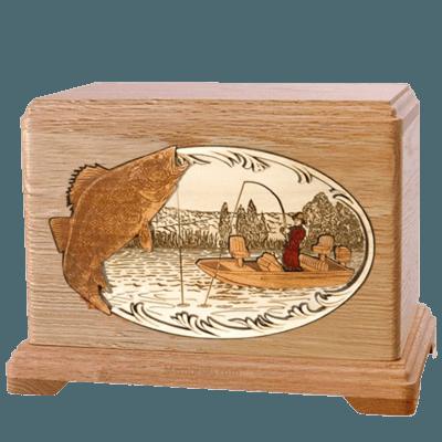 Walleye Fishing Oak Hampton Cremation Urn
