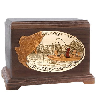 Walleye Fishing Walnut Hampton Cremation Urn