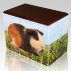 Field of Violets Pet Picture Walnut Urns
