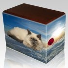 Heavenly Clouds Pet Picture Walnut Urns