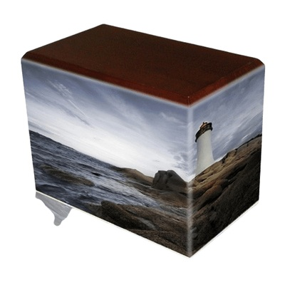 Lighthouse Walnut Child Cremation Urn II