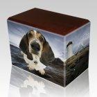 Lighthouse Walnut Pet Picture Urn II