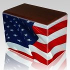 Patriotic Walnut Child Cremation Urn III
