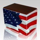 Patriotic Walnut Child Cremation Urn II