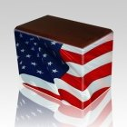 Patriotic Walnut Child Cremation Urn