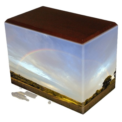 Rainbow Walnut Child Cremation Urn III