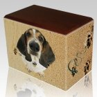 Sand Tracks Walnut Pet Picture Urn III