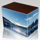 Winter Walnut Child Cremation Urn III