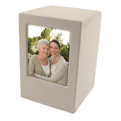 Weston Wood Photo Cremation Urn