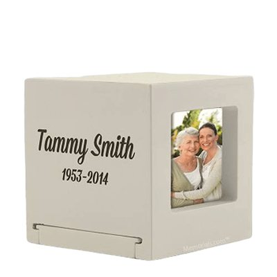 Weston Wood Photo Keepsake Urn