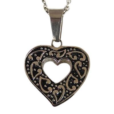 Whimsical Heart Keepsake Pendant