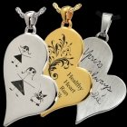 Whimsy Heart Cremation Pendant IV