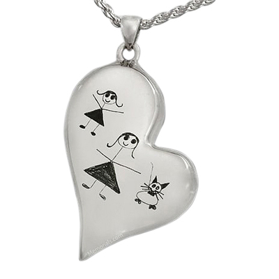 Whimsy Heart Cremation Pendant II
