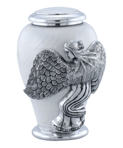 White Angel Funeral Urn